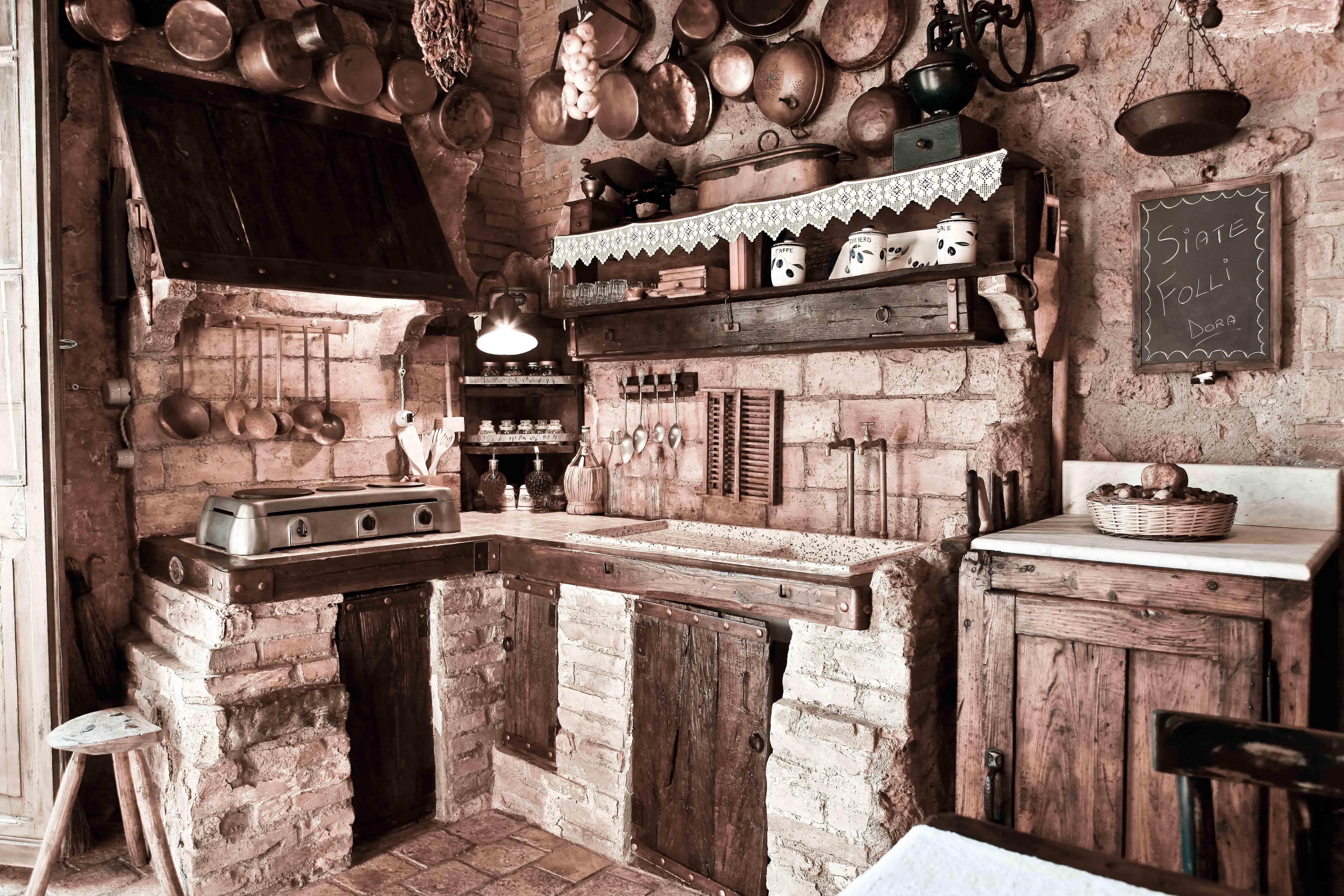 Best Cucine A Legna Antiche Pictures - Ideas & Design 2017 ...